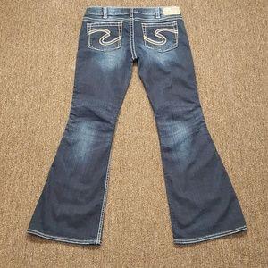Silver Boot Cut Dark Wash Jeans Size W 33/ L 33